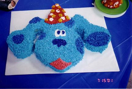 Fantastic Blues Clues Birthday Cake Personalised Birthday Cards Fashionlily Jamesorg