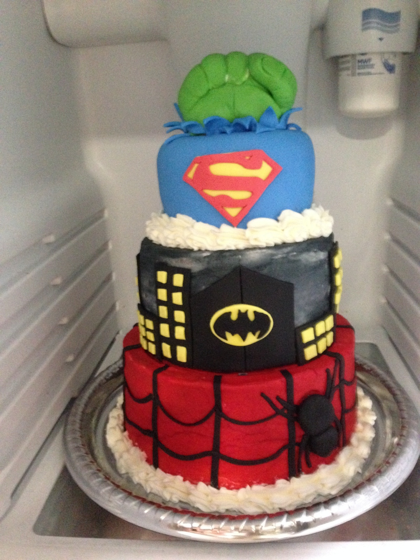 Superman Batman Spiderman and Hulk