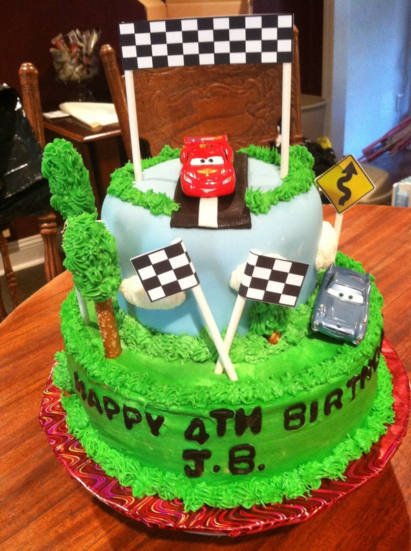 Cake Design Cars Theme : Cars themed Birthday cake