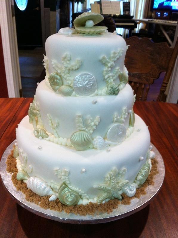 Fondant Cake Pictures Wedding